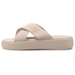 Sandales plateforme en suede pour femmes