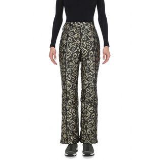 Women's Gold Brocade Pant