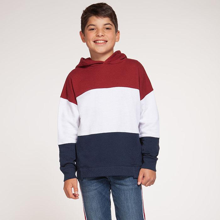 Chandail à capuchon à blocs de couleurs pour garçons juniors [8-16]