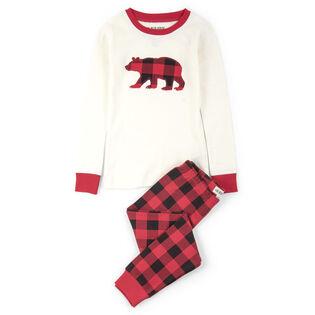 Juniors' [2-10] Buff Bears Two-Piece Pajama Set