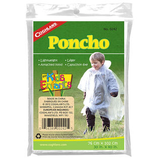 Juniors' Clear Poncho