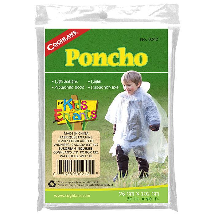 Poncho transparent pour juniors