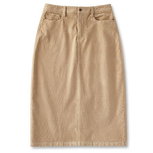 Women's Long Corduroy Skirt