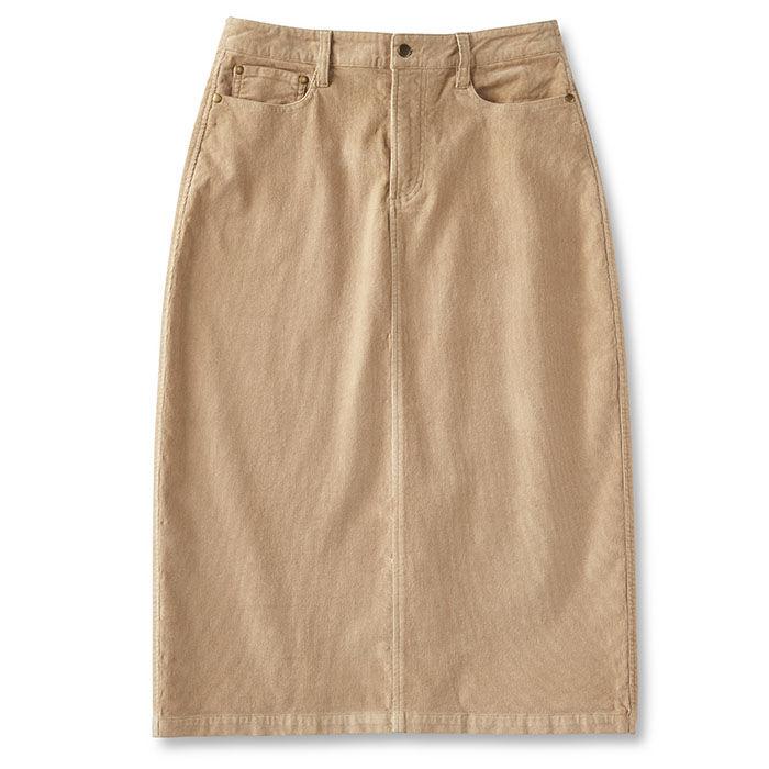 Women's Long Corduroy Skirt