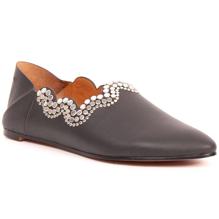 Chaussure Megan à quartier rabattable et talon plat pour femmes