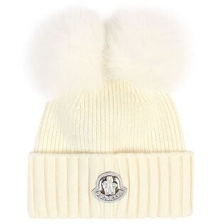 Junior Girls' [8-14] Double Pom Hat