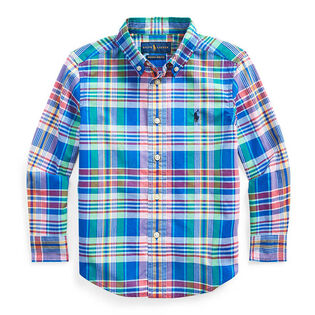 Boys' [2-4] Plaid Cotton Poplin Shirt