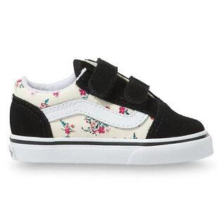 Babies' [3-10] Ditsy Floral Old Skool V Shoe