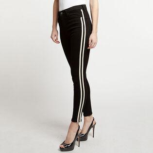 Women's Striped High Rise Skinny Jean