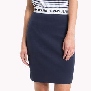 Jupe droite ajustée avec logo pour femmes