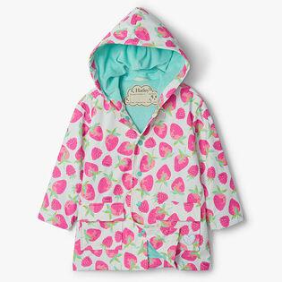 Girls' [2-8] Delicious Berries Raincoat