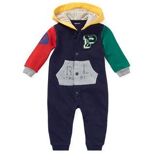 Baby Boys' [3-12M] Cotton Hooded One-Piece Coverall