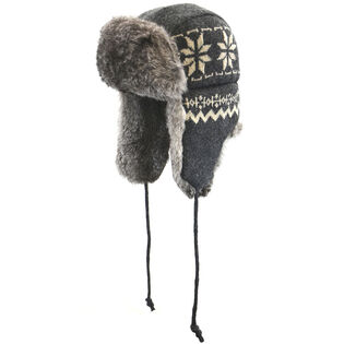 Women's Knit Fur Aviator Hat