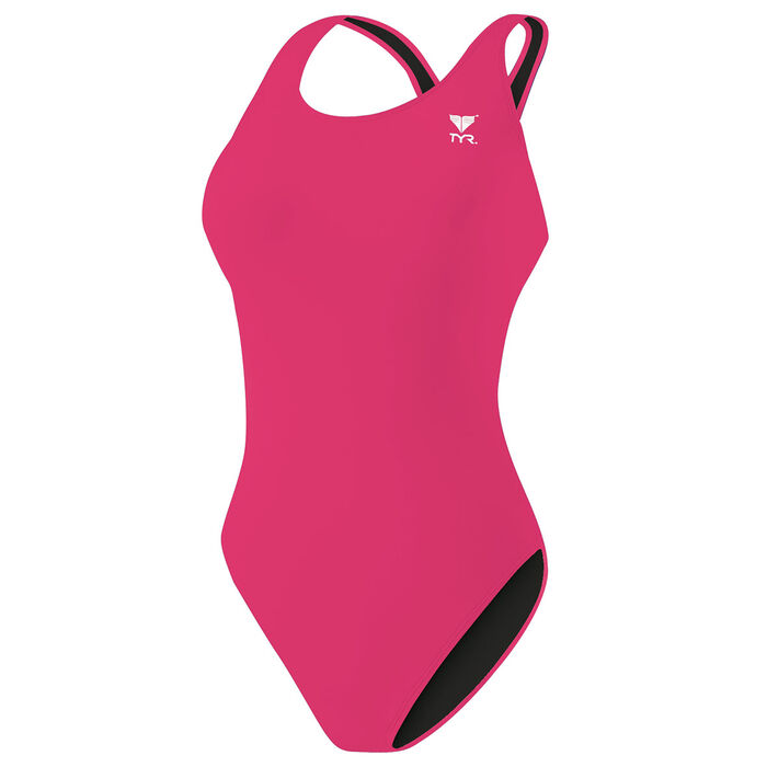 Women's Solid One-Piece Swimsuit
