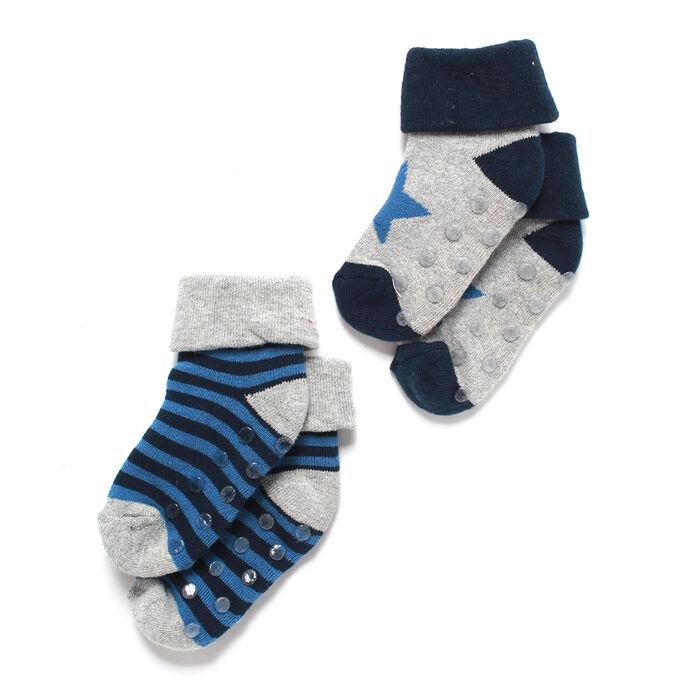 Chaussettes unisexes pour bébés [3-9 M] (paquet de 2)