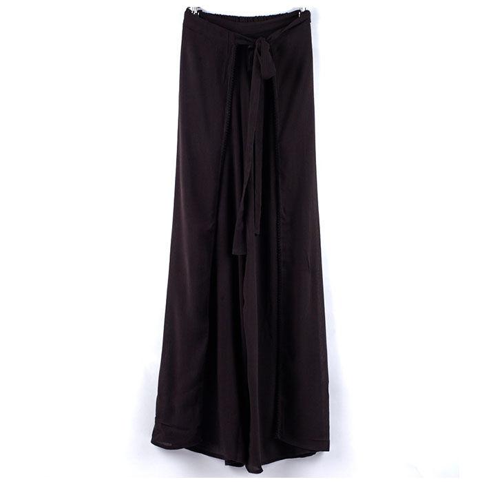 Women's Solid Wrap Pant