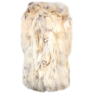 Women's Toggle Fur Vest