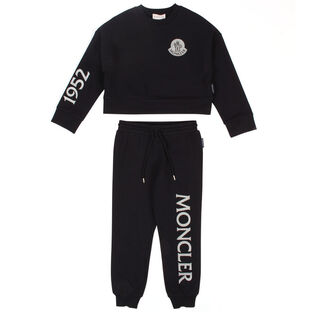 Kids' [4-6] Crew Logo Two-Piece Tracksuit