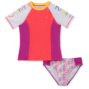 Junior Girls' [8-16] Logo Colourblock Rashguard Two-Piece Set