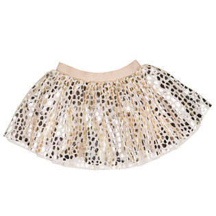 Girls' [2-5] Gold Leopard Tulle Skirt