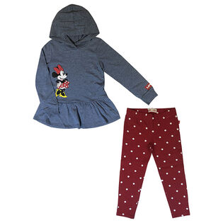 Girls' [2-4T] Disney® Mickey Hoodie + Legging Two-Piece Set