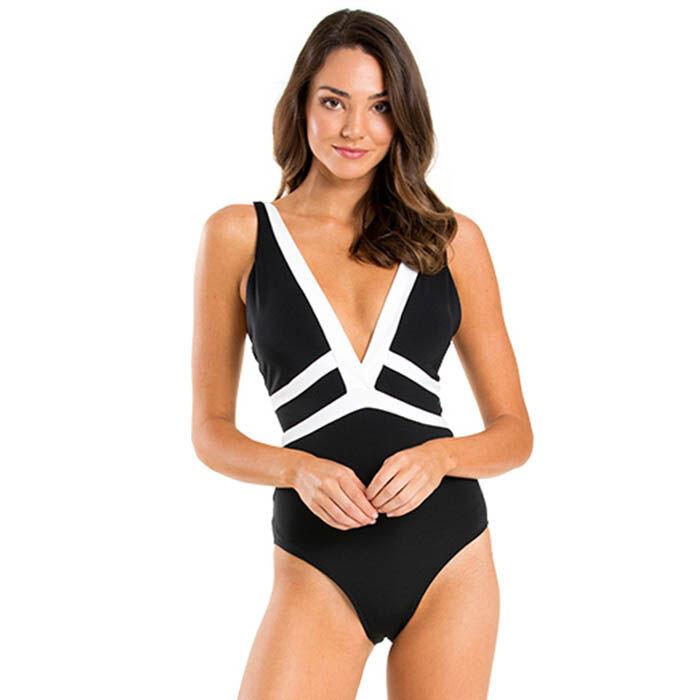 Women's Classique Plunge One-Piece Swimsuit
