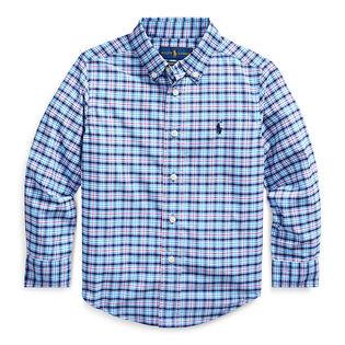 Chemise à carreaux en popeline performance pour garçons [2-4]