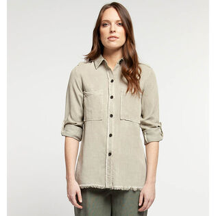 Women's Frayed Hem Shirt