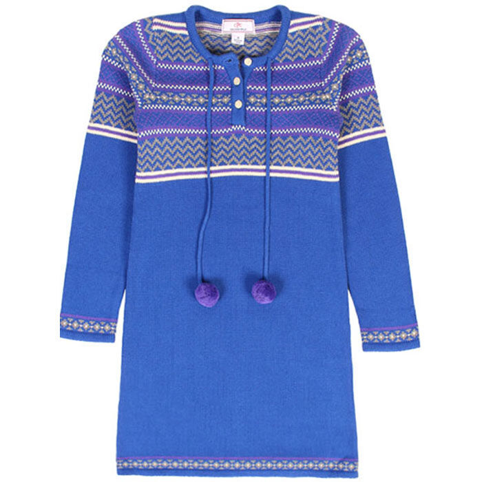 Junior Girls' [5-14] Pom Pom Dress