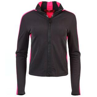 Women's Stripe Full-Zip Sweater