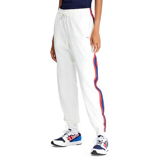 Pantalon de jogging en jersey à rayures pour femmes