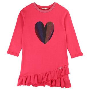 Girls' [3-8] Ruffled Fleece Dress
