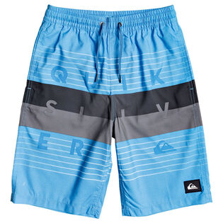 Junior Boys' [8-16] Word Block Boardshort