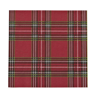 Holiday Plaid Cocktail Paper Napkin (20 Pack)