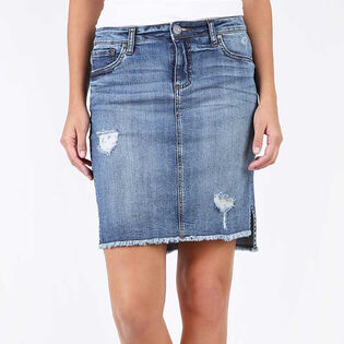 Women's Connie Hi-Low Denim Skirt
