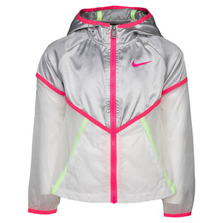 Girls' [4-6X] Metallic Windbreaker Jacket