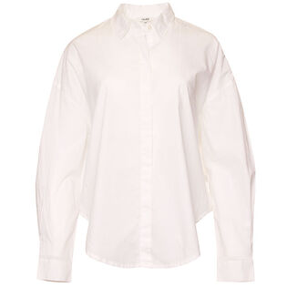 Women's Solid Button-Up Shirt