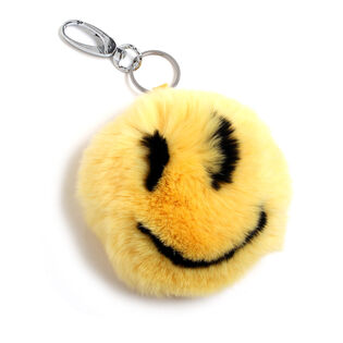 Smiley Fur Keychain