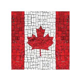 Canadian Flag Mosaic Napkin