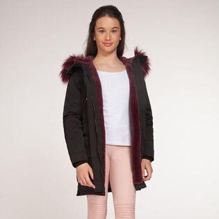 Junior Girls' [7-14] Faux Fur Lined Parka