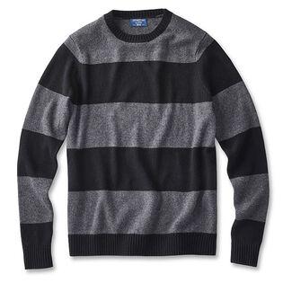 Men's Wide Stripe Crew Sweater