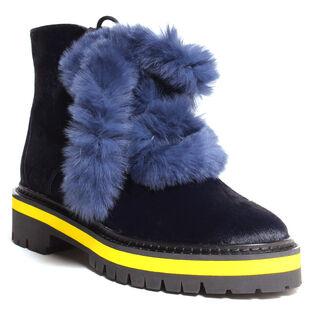 Women's Fur Combat Boot