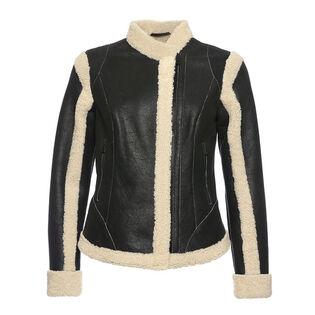 Women's Shearling Moto Jacket