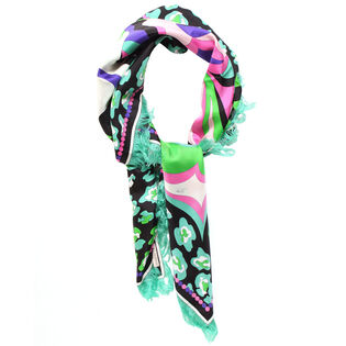 Women's Pop Flower Silk Scarf