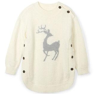 Girls' [2-6] Mistletoe Deer Sweater