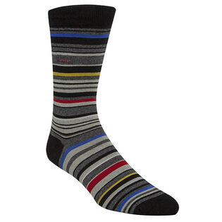 Men's Multicolour Stripe Crew Sock