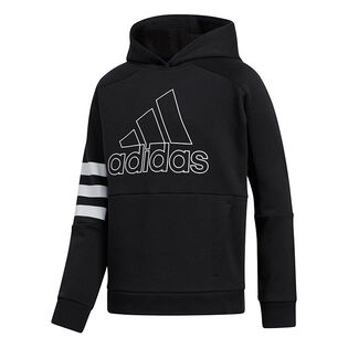 Junior Boys' [8-16] Badge Of Sport 3-Stripes Hoodie