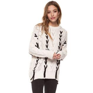 Women's Contrast Lace Sweater