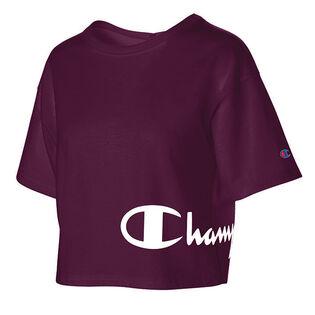 Women's Crop Script T-Shirt