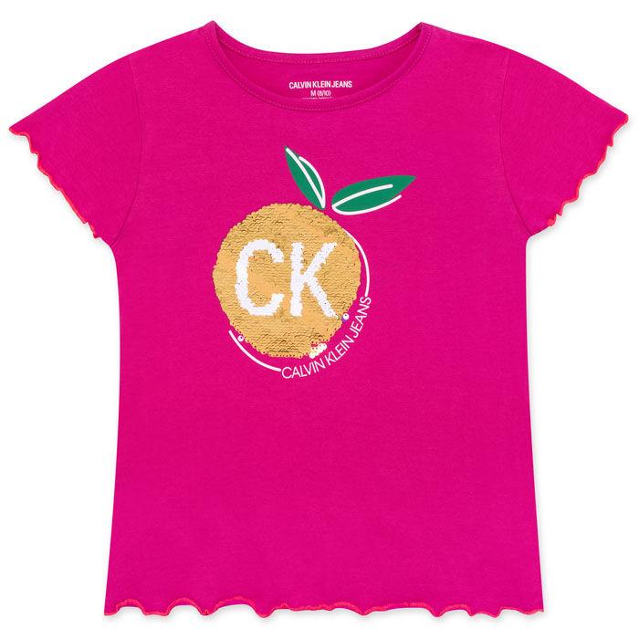 T-shirt à motif de fruit à paillettes pour filles juniors [8-16]